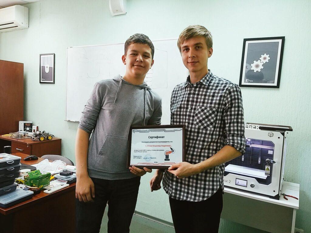 Защищаем итоговый проект Центр Разум Робототехника, электроника, программирование, английский для детей в Омске